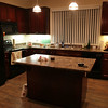 Here's the island and a closer look at the kitchen.  The kitchen is probably my favorite part of the entire apt.