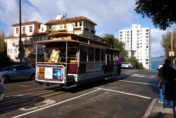 The all-famous San Francisco cable car.