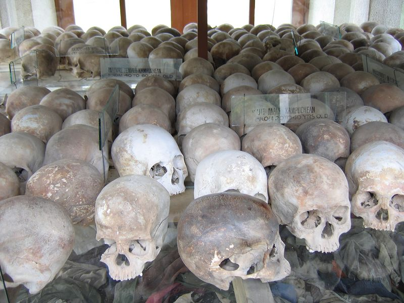 Contents of one of the shelves of the stupa