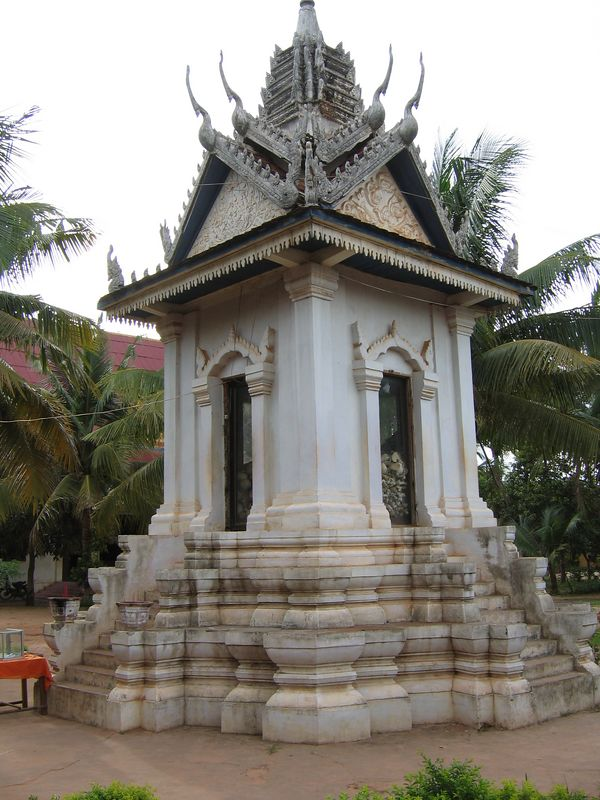 Small buddist stupa on one of the killing fields near Siem Reap.