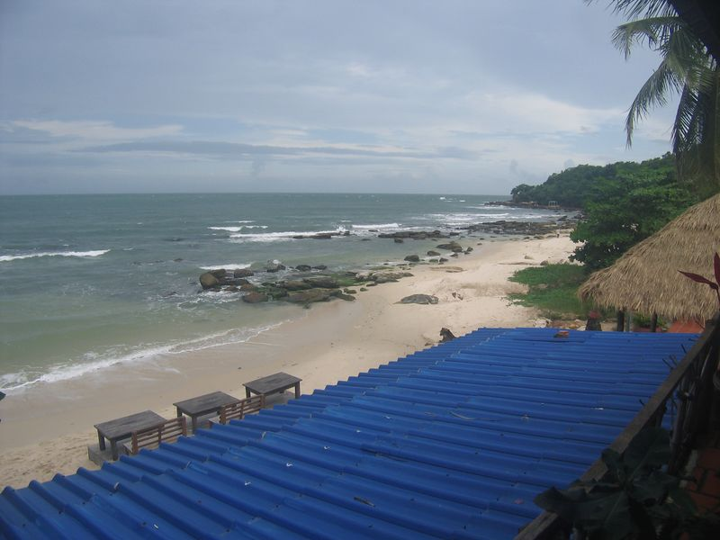 View from my hotel balcony in Sihanoukville.