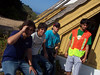 """Integrantes de la cabaña 18 y 20. Nacho, Italo, yo y Rodrigo """"el Doc"""""""