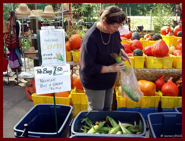 Michelle buying Corn