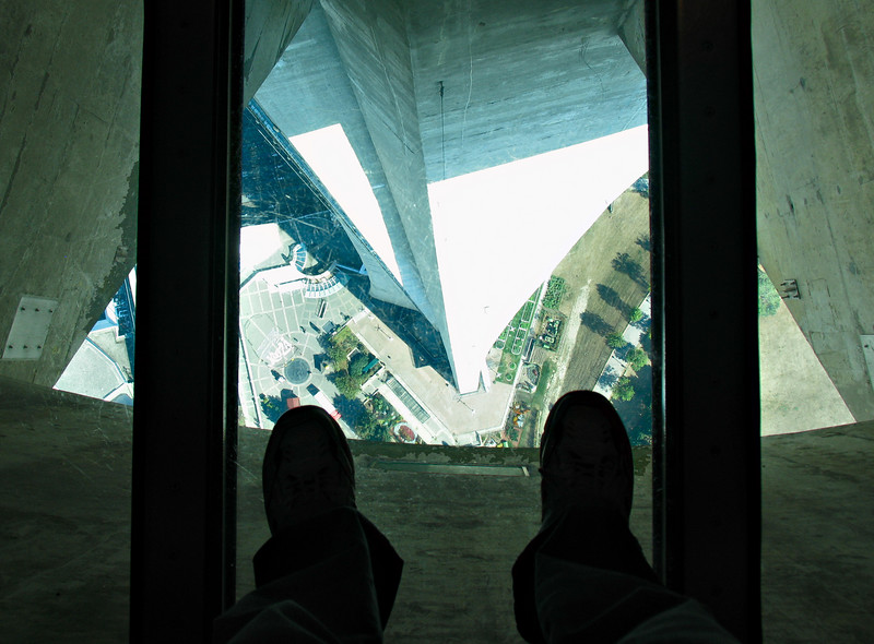 Just a couple of panes of glass between my feet and the ground 1,122 feet below...