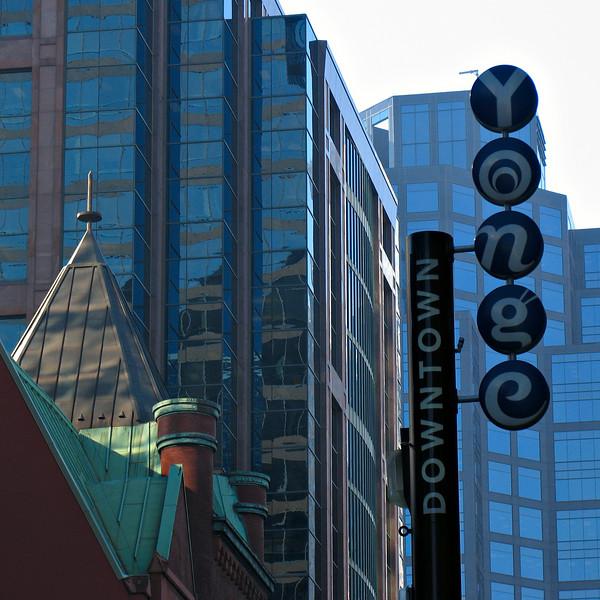 Yonge Street, Toronto - the world's longest street, they claim...