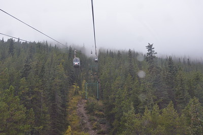 Banff Gondola - a climb of just over 2,000 foot through the cloud to a different world