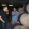 Andy explaining to me the fine art of barrel construction and maintenance, again at Kanonkop.