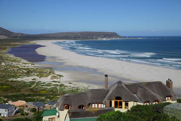 Long Beach, Noordhoek, Cape Town, South AFrica.  Kommetjie in the background.