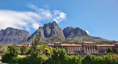 University of Cape Town with Devil's Peak in the background.