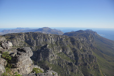 On top of Table Mountain, Cape Town, South Africa.  Towards the Twelve Apostles.