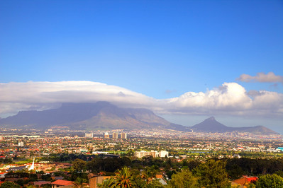 Cape Town, Table Mountain from Tygerberg.