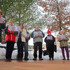 St. Camillus Church Caroler sangs Christmas songs on Main Street with other to mark the one year anniversary of Sandy Hook on Saturday afternoon. SENTINEL & ENTERPRISE/JOHN LOVE