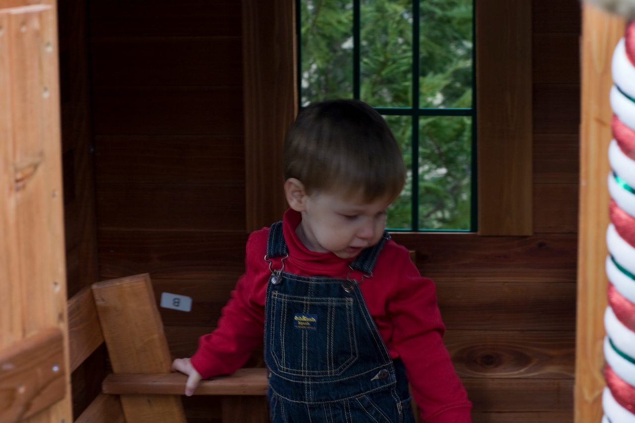 Caleb in the Play house