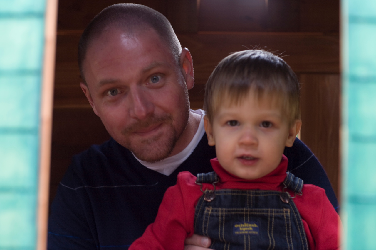 Ethan and Caleb in the Play house