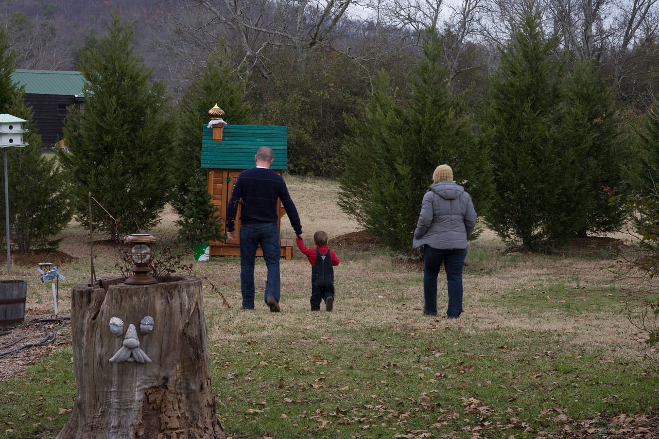 As Ethan,Caleb,and Cathy  got their first good look at the Play house.