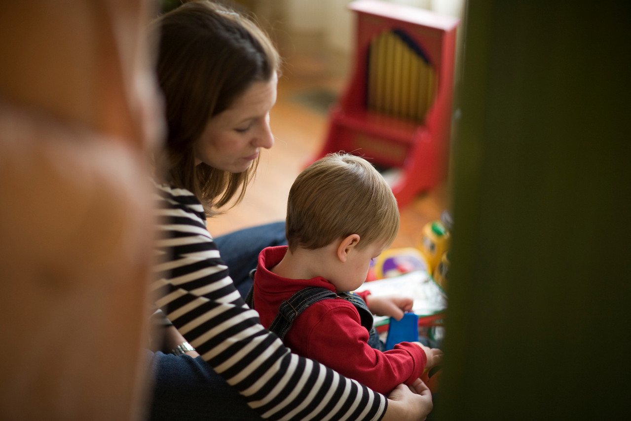 Mary and Caleb in our kids Play room