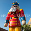 Mr. Nutcracker stands out in contrast against the blue San Diego sky.
