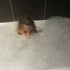 Ella in the jacuzzi bath