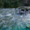 Restaurant in a stream!