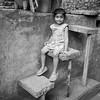 Jiya posing at Rock Garden, Chandigarh