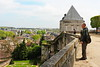 Paris 2013 - Tour of Chartres - Cathedral - Cliff Looking Out Over Old Chartres (V)