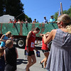 50th anniversary of Chelmsford's 4th of July celebration and parade. Spectators get sprayes with water. (SUN/Julia Malakie)