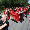 50th anniversary of Chelmsford's 4th of July celebration and parade. Spartans Drum & Bugle Corps of Nashua. (SUN/Julia Malakie)