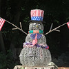 50th anniversary of Chelmsford's 4th of July celebration and parade. Yard decoration on parade route. (SUN/Julia Malakie)