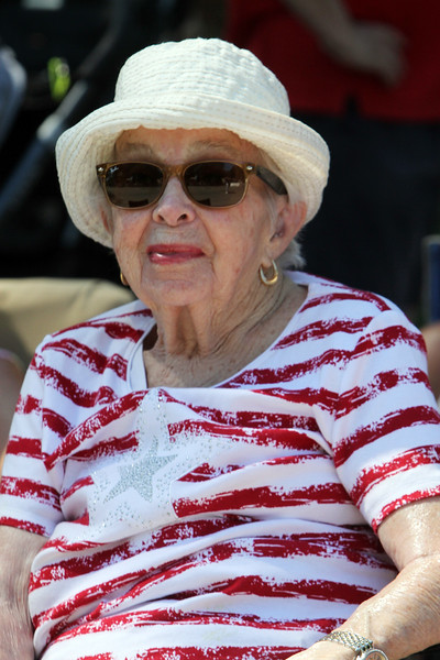 50th anniversary of Chelmsford's 4th of July celebration and paradel. Mary Roark of Chelmsford watches the parade. (SUN/Julia Malakie)