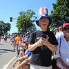 50th anniversary of Chelmsford's 4th of July celebration and parade. Dick and wife Rita O'Shea of Chelmsford. (SUN/Julia Malakie)