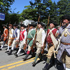 Chelmsford Minutemen in 50th anniversary of Chelmsford's 4th of July celebration and parade. (SUN/Julia Malakie)