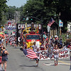 Chelmsford 4th of July parade.  Chelmsford Pop Warner football and their float. (SUN/Julia Malakie)