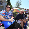 Chelmsford 4th of July parade. Abbie Sawyer and her father Bob Sawyer, both of Chelmsford. (SUN/Julia Malakie)