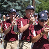 Chelmsford High School marching band in Chelmsford 4th of July parade.  (SUN/Julia Malakie)