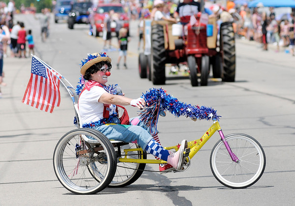 Don Knight   The Herald Bulletin<br /> Chesterfield's Fourth of July parade on Wednesday.