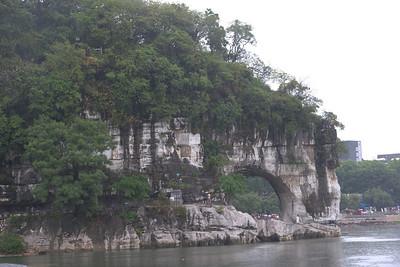 20070824_0353 The day trip also included a short boat cruise down the river. This is the Elephant Trunk Hill (Xiang Bi Shan).