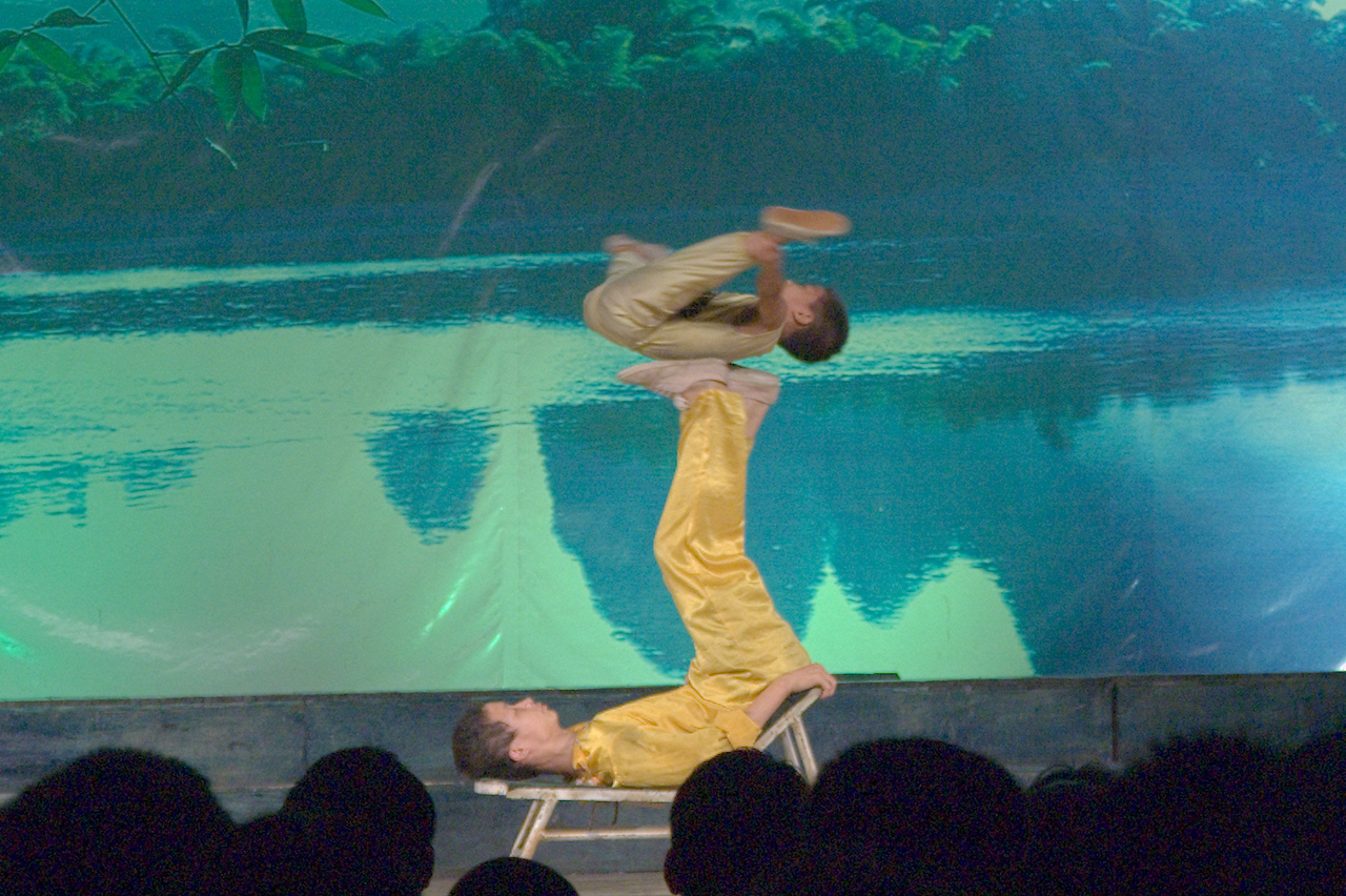 20070824_0314 Still, the show was entertaining. This tumbling act looks pretty hard on the boy's back
