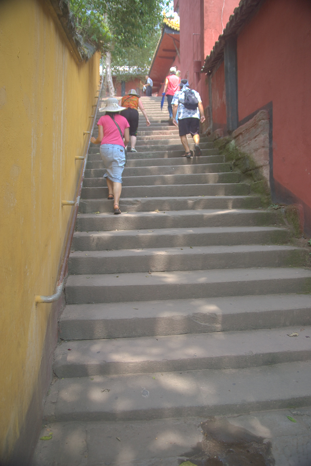 20070830_0528 Ghost City, Fengdu. This is the second of three tests in order to go to heaven. The aim is the climb all these steps (the number of steps is the same as the Daoist number of heavens) in a single breath. DIdn't pass this test, myself, but then ....