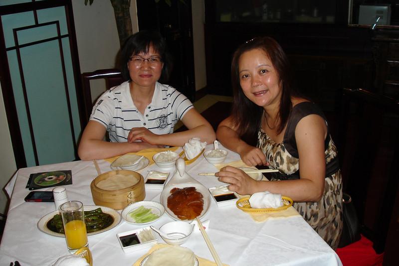 Tong's friend Liu Shi Qing shouted us a lovely lunch of Beijing Duck