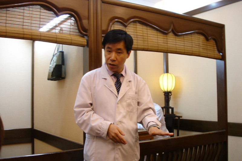 "This fellow was a ""famous"" chinese medicine doctor telling the us the history and benefits of Chinese Medicine.  In fact it was just an organised effort at conning money out of the tourists!"