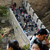 One of the things that surprised me was the shear number of people visiting the wall.  The place was really crowded.  And for every western tourist there were a good 10 or more Chinese - clearly visiting the wall is a major internal tourist attraction as well.