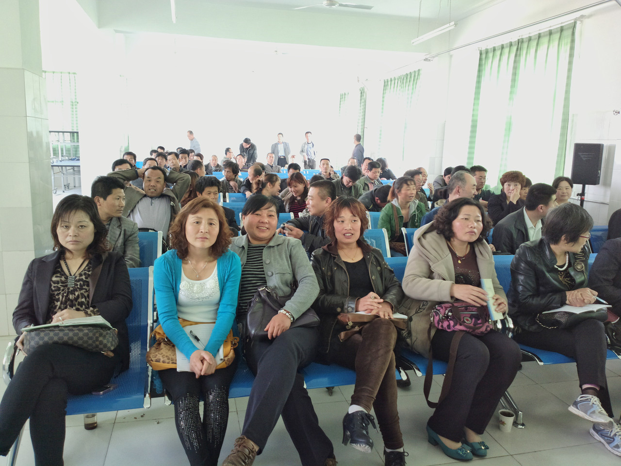 20130426_1032_0042 village doctor training. hall in Fuping country.