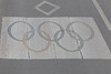 Olympic Lane markings in Beijing.<br /> 22 June 2012