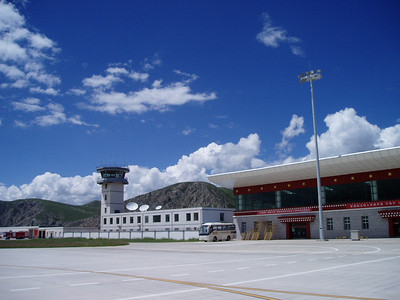 Yushu airport, altitude 3890 metres. I ... just ... can't ... breathe ...