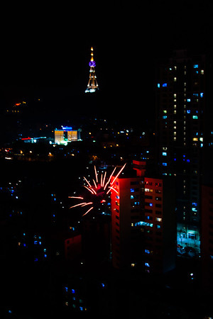 Fireworks and firecrackers are set off everywhere in cities to scare away the evil spirits.
