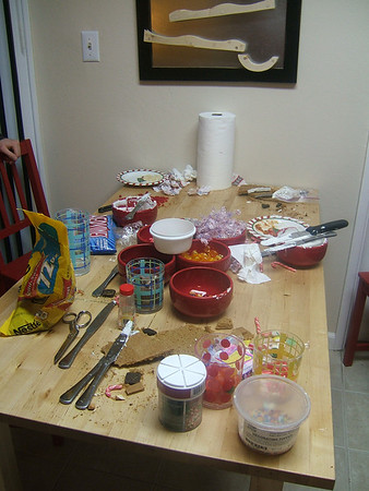 Making Gingerbread Houses - 12-09-07