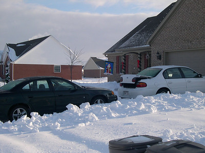 Cars in the snow