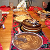 ALL kinds of desserts: Bev made Chocolate pie, Cheese cake, pumpkin pie and apple pie!