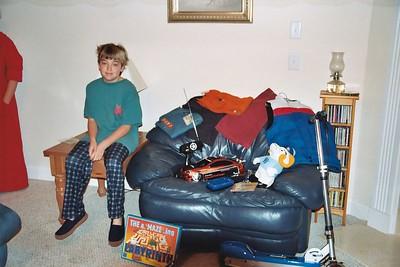 Cameron with Santa