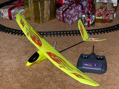 One of Dads presents.  Brad is into flying radio controlled planes and thought I needed one too.